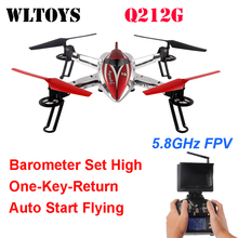 WLtoys Q212G 5.8G FPV One-Key-return & Take Off Barometer Set High RC Quadcopter with HD Monitor RTF