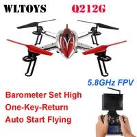 WLtoys q212g 5.8 Г FPV системы один ключ возврат и снять барометр высокого RC Quadcopter с HD мониторы RTF
