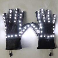Led Luminous Flashing Magic Gloves Stage Performance DJ DS Party Event Supples Illuminated Dress Nightclub Bar Led Props