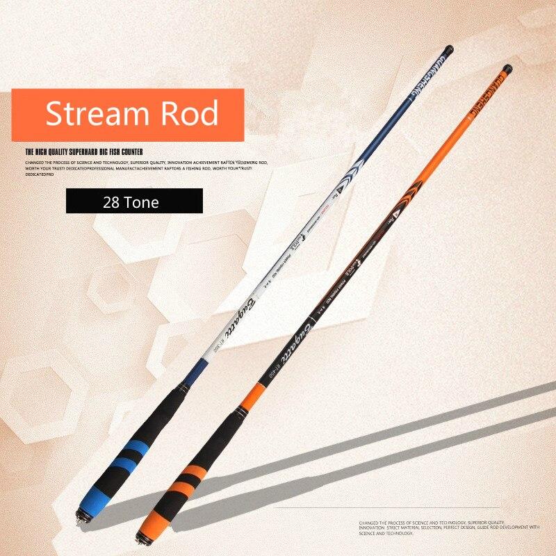 28 Tone Superhard Stream Rod Short Section Hand Pole High Carbon Ultralight Fishing Pole For Carpfish 3.6-7.2M Fishing Equipment