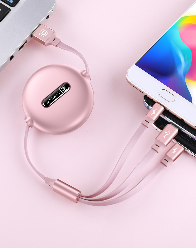 Astrosoar - Cafele Retractable Charging Cable for iPhone Android & more - Lightning/Type C/Micro 3 in1 Charging Cord