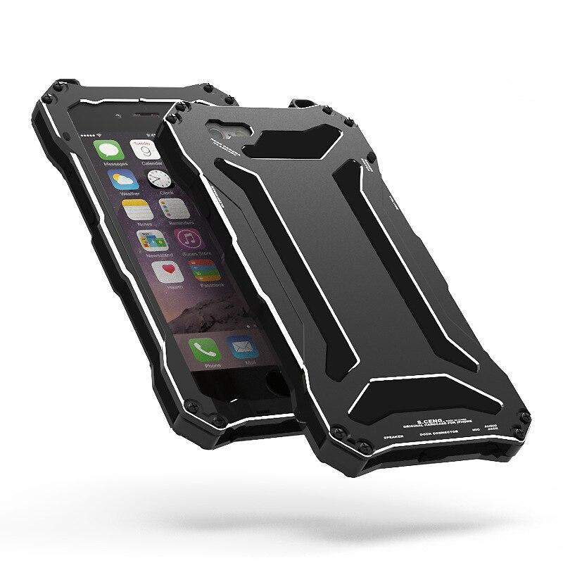 imágenes para Heladas de Buceo impermeable Anti Del Polvo De Aluminio Del Metal Con Gorilla Glass Cubierta de la caja para el iphone 5S SE6 6 S 4.7/6 Plus 6 S Plus5.5
