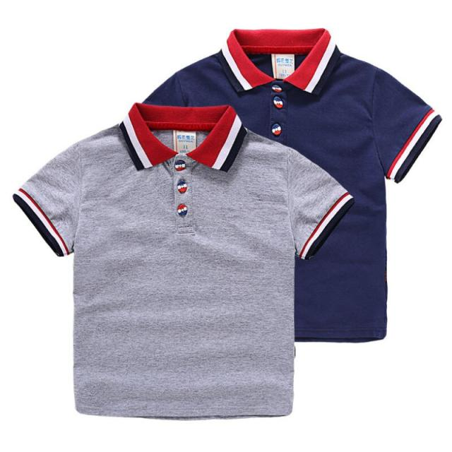Summer Boys Short Sleeve Polo Shirts Baby Tops Classic