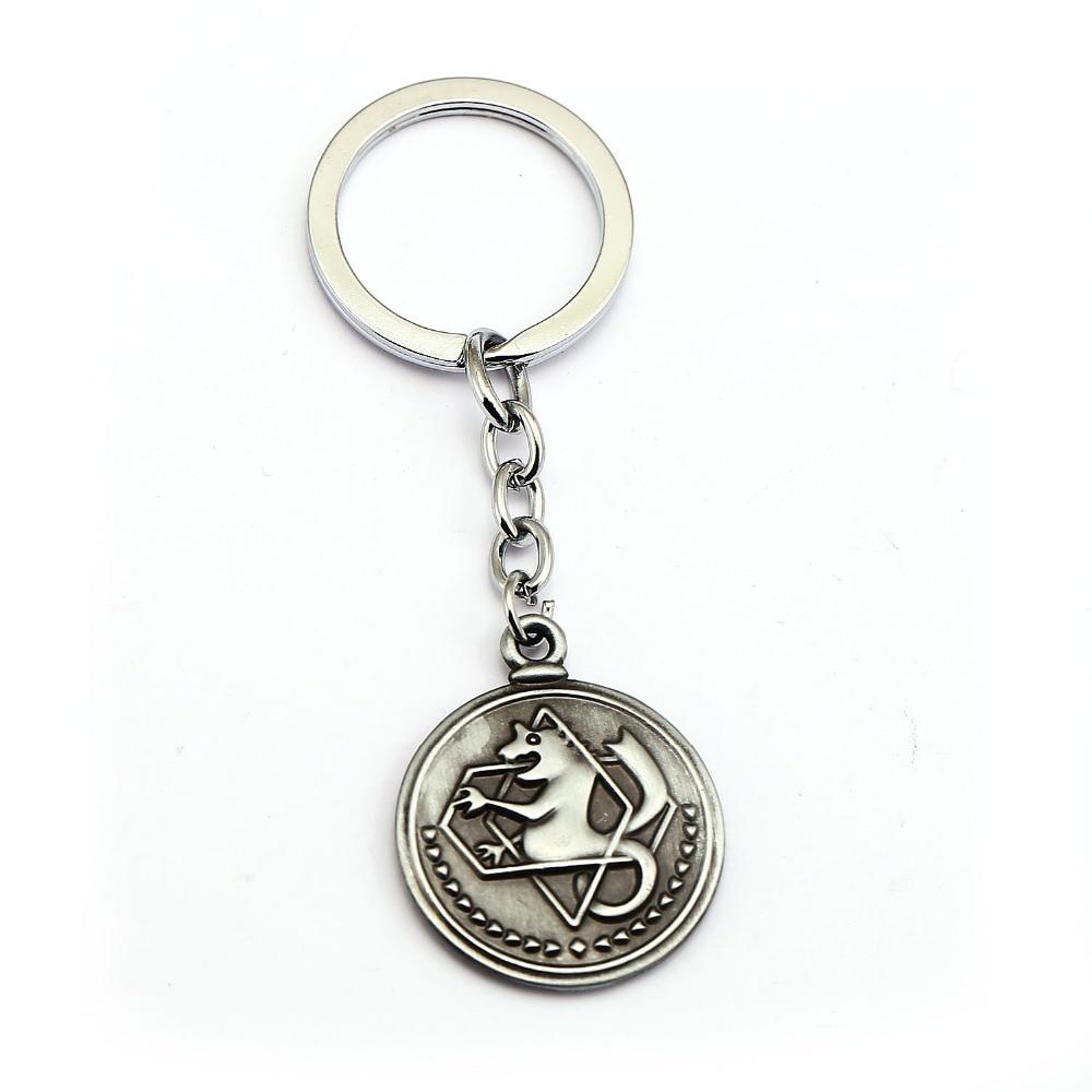 2018 Anime Fullmetal Alchemist Edward Elric Pendants Necklace Boys Vintage Coin Keychains for Women Fashion Summer