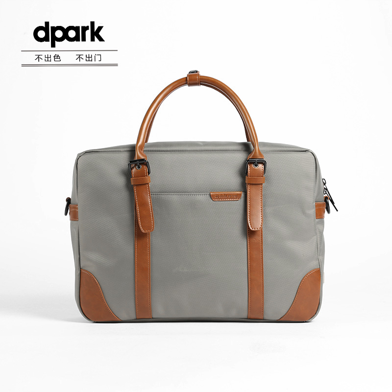 D-park Messenger Bags Waterproof Portable Laptop Briefcase Bag Men's Travel Shoulder Vintage 15.6 Inch Handbag For Macbook women handbag shoulder bag messenger bag casual colorful canvas crossbody bags for girl student waterproof nylon laptop tote