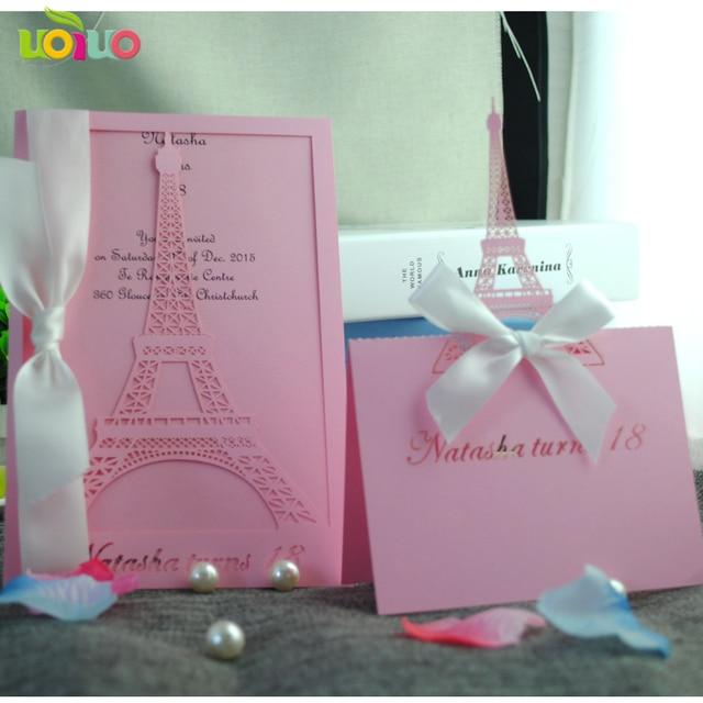 Eiffel Tower Invitations Laser Cut Latest Wedding Invitations Design