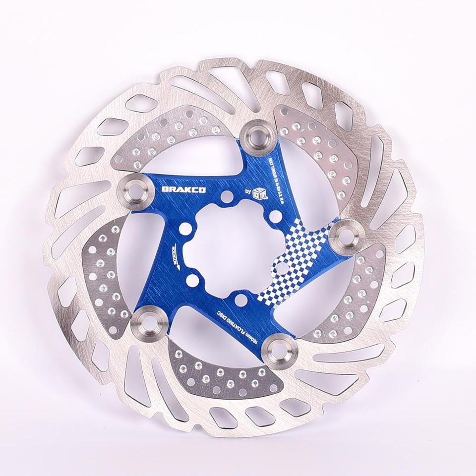 1* BRAKCO Mountain MTB bike Disc Floating Brake Rotor 6 Bolt 160mm Rotors Blue