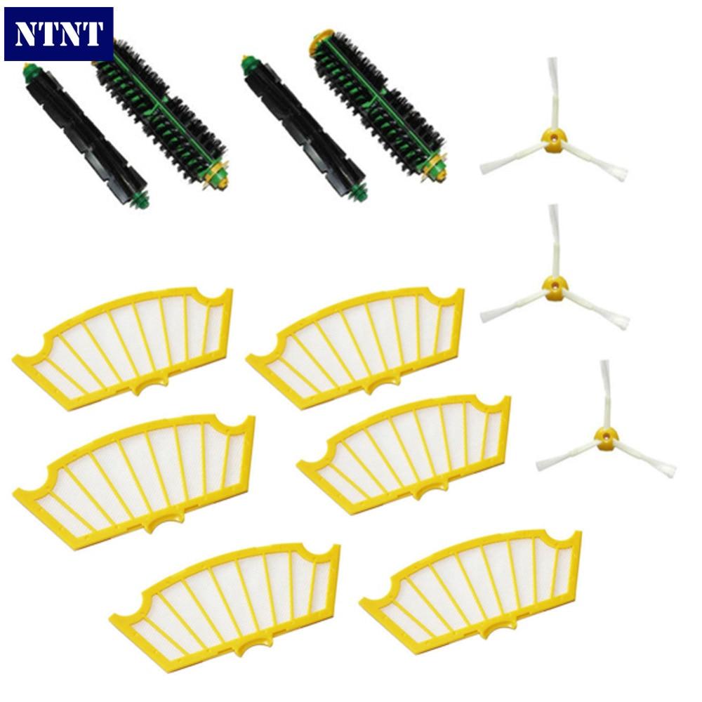 все цены на NTNT NEW Side Brush Filter Kit 3 Armed for iRobot Roomba 500 Series 510 530 560 570 580 онлайн