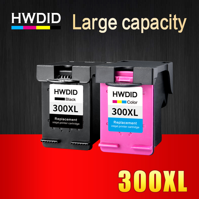 2 Pcs Ink Cartridge for HP 300 300XL Black Tricolor  for HP Deskjet D1660 D2560 D2660 D5560 F2420 F2480 F2492 F4210 Printers fast shipping 2pk 74 75 xl ink cartridge for hp 74 xl 75 xl ink cartridge with 100% defective replacement