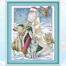 Joy Sunday,Santa Claus,cross stitch embroidery set,printing cloth embroidery kit,needlework,Christmas style cross stitch joy sunday christmas mouse cross stitch embroidery set printing cloth embroidery kit needlework christmas style cross stitch