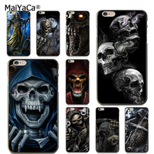 MaiYaCa Grim Reaper Skull Skeleton Luxury Hybrid phone case for iPhone 6S 6plus 7 7plus 8 8Plus X XS MAX XR 5 5S 11pro max