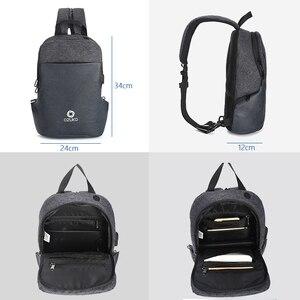 Image 5 - OZUKO תכליתי חבילת חזה גברים אופנה כתף Crossbody תיק זכר מים עמיד שקיות חזה USB טעינת נסיעות קלע תיק