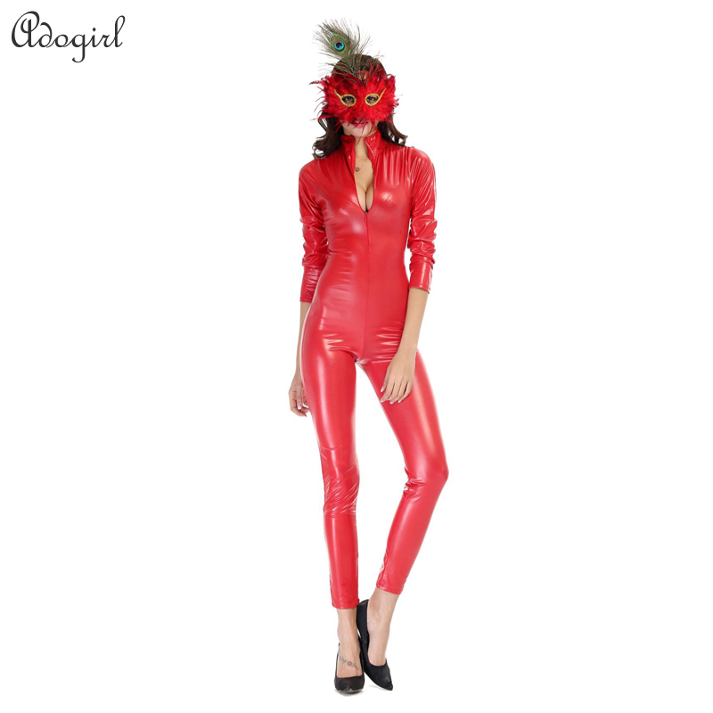 Popular Red Leather Jumpsuit-Buy Cheap Red Leather Jumpsuit lots ...