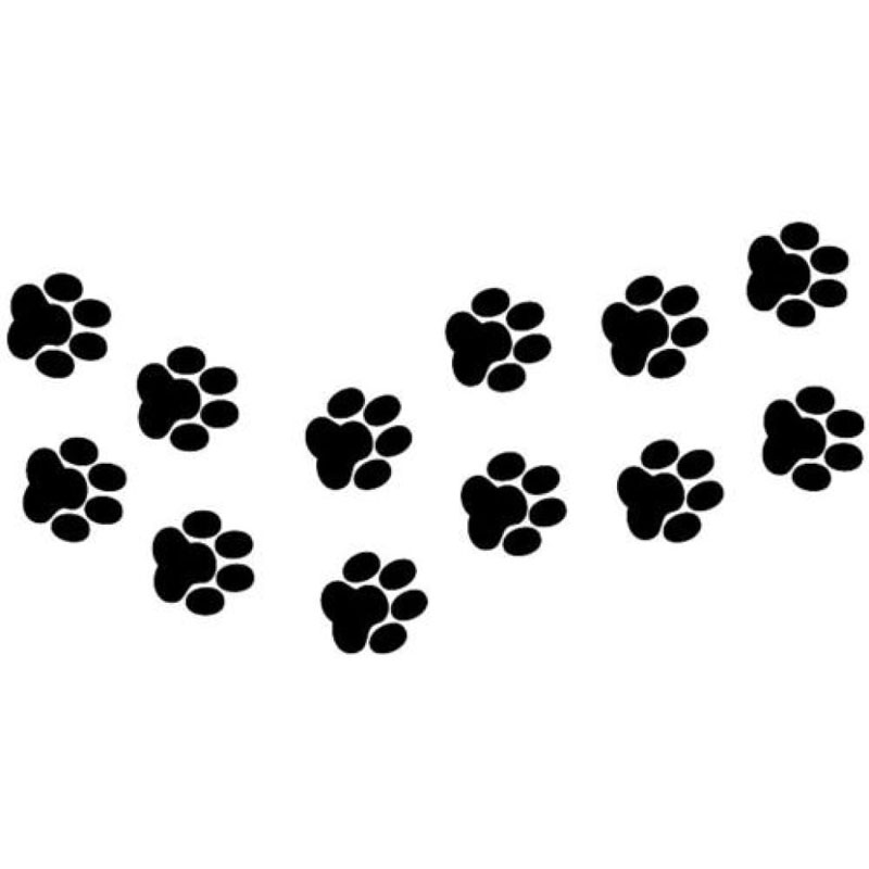 13cm*6.6cm Animal Cat Paw Prints Funny Vinyl Decal Car Sticker Black/Silver S6-3812