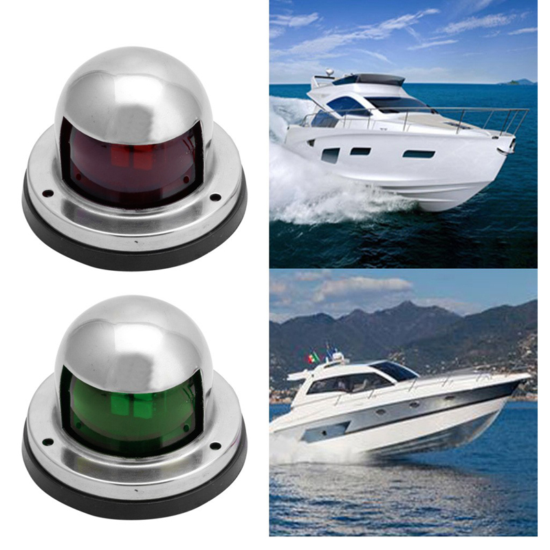 1Pair Stainless Steel Marine Boat Yacht Light 12V LED Bow Navigation Lights new