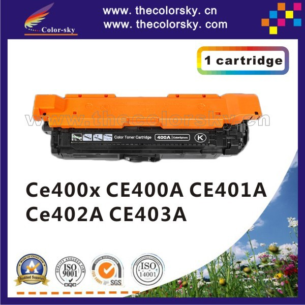 (CS-H400X-403) print top premium toner cartridge for HP CE400 CE401 CE402 CE403 MFP M575dn M575f M575c M575 M570 M551 10.5/5k/7k