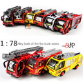 2014 Hot sale!Super cool!1: 78 alloy fire truck pull back car toy model,sound and light car toy,best birthday gift,free shipping