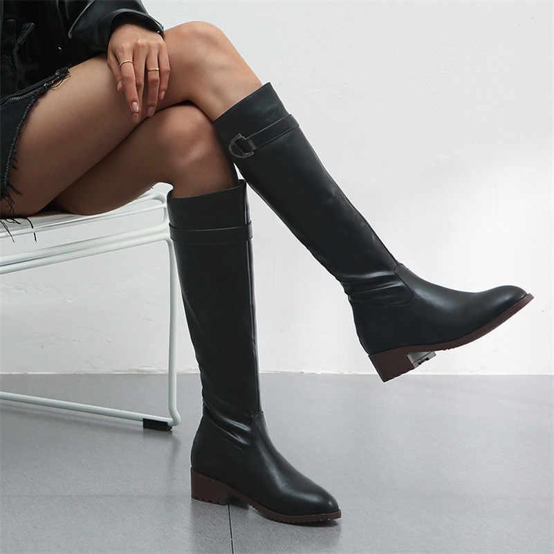 FEDONAS/2020 женские сапоги до колена из микрофибры на высоком каблуке с круглым носком высокие сапоги на молнии пикантные сапоги для верховой езды женская обувь для вечеринок