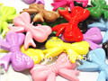 Hot Sale Large Size 46x36mm 60pcs/lot Mixed Acrylic Bow Beads, Knot Beads For Fashion Kids Necklace Making