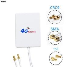 KuWFi 4G เสาอากาศ 3M สาย LTE เสาอากาศเสาอากาศภายนอกสำหรับ Huawei ZTE 4G LTE Router MODEM Aerial กับ TS9/ CRC9/ SMA CONNECTOR