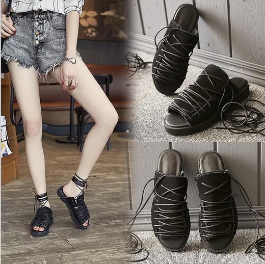 299518786b Mostrar Banco Sandalias Verano de Las Mujeres Zapatos Planos de La Mujer  2016 Nuevo Diseñador de
