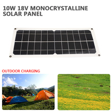 Portable Solar Panel Solar Generator Emergency Power Supply Outdoor Travel Solar Light 10W 18V USB+DC Port