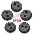 Brush Cutter Fuel Tank Pipe Rubber Tubing Stopper Oil Plug with 2 Hole (5Pieces/lot)