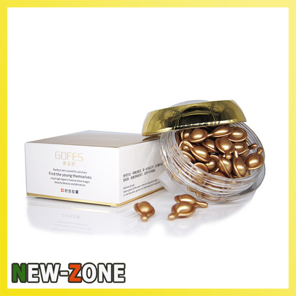 Skin Care Ageless Anti Wrinkle EGF Serum Nourishing Cream NANO Gold Petitide Youth Capsule Epidermal Growth