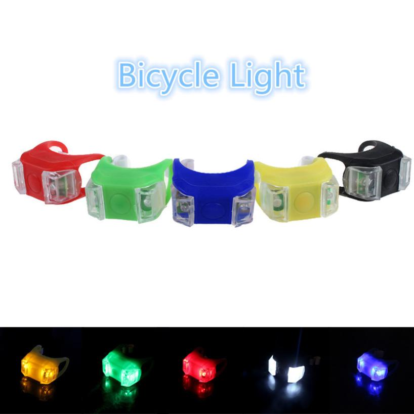 New Silicone Bicycle Safety Lighting LED Light Lamp Flashlight Bike For Handlebar Seatpost Long Service Life Bike Light Lamp