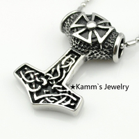 Christmas Gift Myth THOR S HAMMER Norse Magick Mjolnir Pewter Pendant Free 20 Necklace Wholesale Jewelry