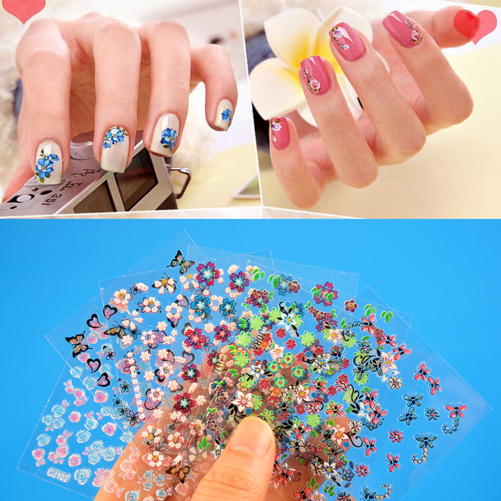 Stickers decals nail stickers nail art decals fashion - Aliexpress Com Buy New Fashion 30 Sheets Mix Color 3d Floral Design Nail Art Stickers Decals Decoration Beautiful Manicure Fashion Accessories From