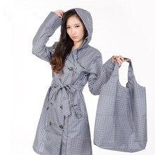 Free shipping Soleil classic plaid raincoat British Korean fashion coat lady adult section