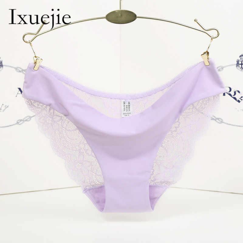 03feca92ad ... 5pcs lot S-XXL 5 Size Women Sexy Underwear Transparent Hollow Women s  Lace Panties ...