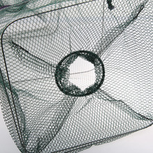 48*22cm Folding Fishing Net Catch Crab Shrimp Minnow Fishing Bait Trap Cast Dip Net Nylon Network Cage Fish Net Fishing Tackle