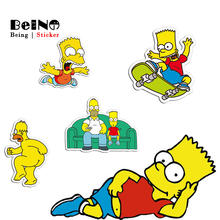 Simpsons Cartoon Anime Sticker Family Funny Cute Rock Waterproof Suitcase Laptop Guitar Luggage Skateboard Toy Lovely Stickers(China)