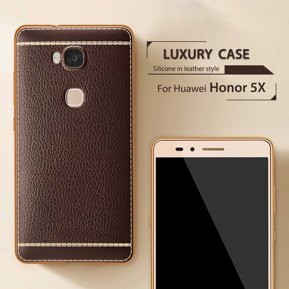 ZORWING For Huawei Honor 5X Luxury Case Cover Litchi Leather Grain Soft TPU Silicone Case For Huawei Honor 5X 5.5 inch Cover xiaomi mi 8 aliexpress
