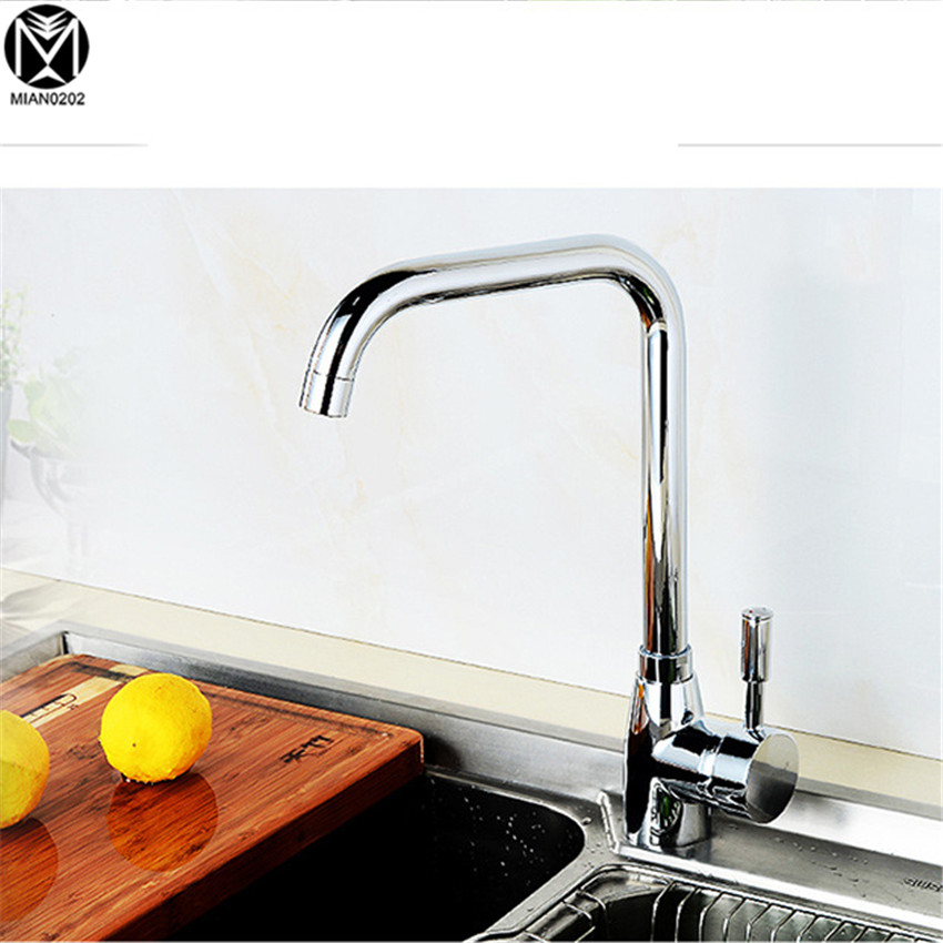 YANKSMART Kitchen Faucet Kitchen Faucet Mixer Single Handle&Hole Polish Chrome 8910 Torneira cozinha Basin Faucet Sink Tap