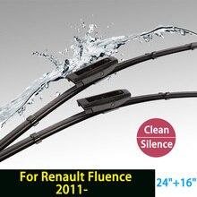 """Cuchilla de limpieza para Renault Fluence (desde 2011 en adelante) 24 """"+ 16"""" ajuste de bayoneta tipo brazos del limpiaparabrisas sólo HY-015"""