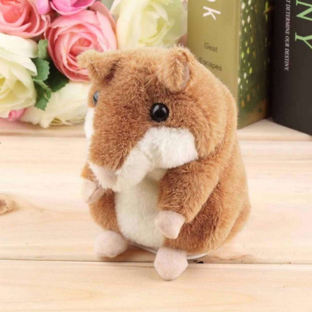 Lovely Talking Hamster Plush Toy New Cute Speak Talking Sound Record Hamster Talking Toys for kids