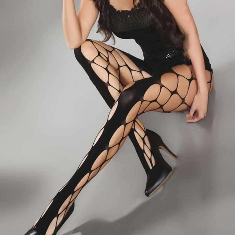 Женские длинные сексуальные ажурные чулки для женщин колготки в сеточку чулки в сетку нижнее белье до колена чулки из нейлона