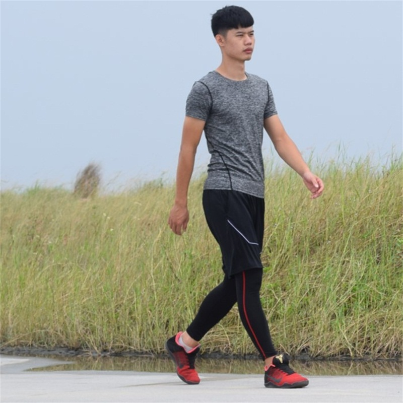 DZ18322 Clothing For Men Compression Shirt Quick Dry Football Basketball Men Gym Clothing Hot Fitness Exercise