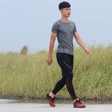 DZ18322 Костюмы для обтягивающая мужская кофта быстросохнущая Футбол Баскетбол Мужская спортивная одежда Горячие Фитнес спортивные футболки 6