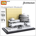 Ideas loz minibloque world famous architecture series diy bloques educativos del museo guggenheim divertido modelo bircks edificio 1005
