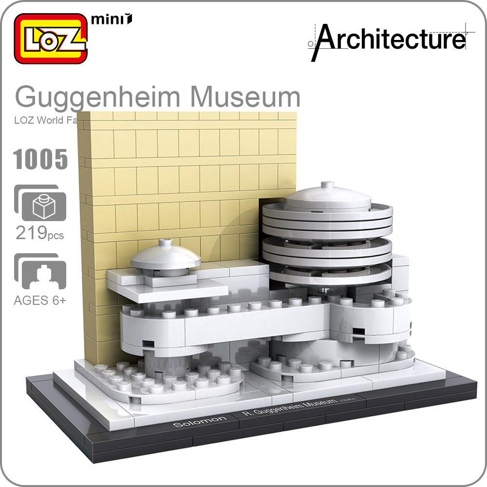 LOZ ideas Mini Block Guggenheim Museum World Famous Architecture Series DIY Educational Blocks Funny Model Bircks Building 1005 loz world famous architecture nanoblock daming palace china city mini diamond building block model educational toys for kids