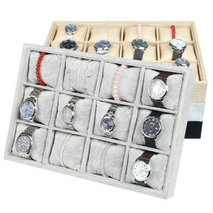 Image 1 - Rasalhaguer Fashionable 12 Pillows Jewelry Box Bracelet Display Watch Holder Organizer Bangle Chain Showcase Jewelry Display