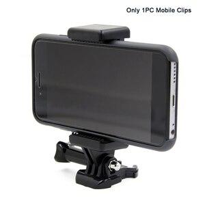 Image 1 - נייד שחור מצלמה אבזר מתכוונן הר עם 1/4 בורג חור טלפון מחזיק Stand סוגר קליפ חצובה מתאם עבור GoPro