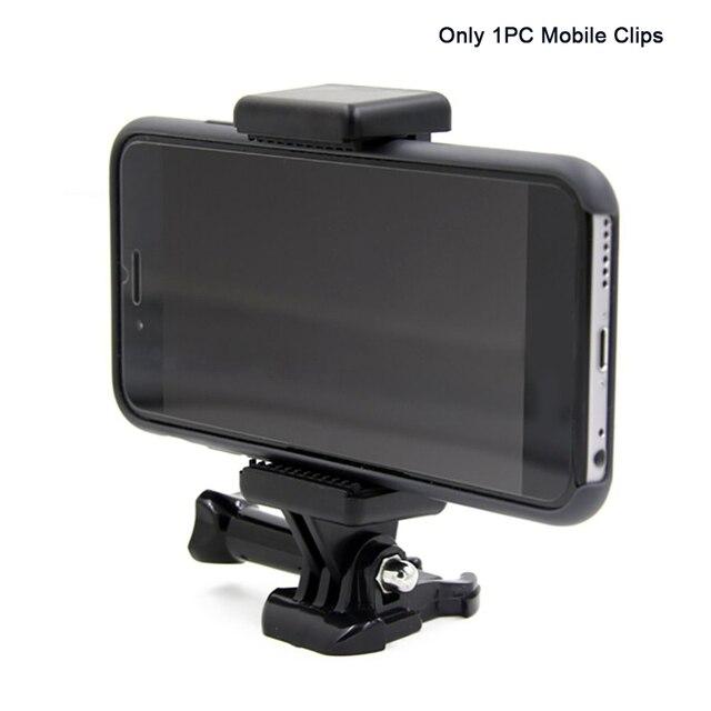 נייד שחור מצלמה אבזר מתכוונן הר עם 1/4 בורג חור טלפון מחזיק Stand סוגר קליפ חצובה מתאם עבור GoPro
