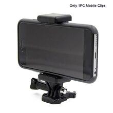 Accesorio portátil para cámara negra, montaje ajustable con orificio de tornillo 1/4, soporte para teléfono, Clip, adaptador de trípode para GoPro