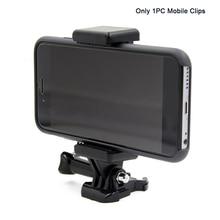 Draagbare Zwarte Camera Accessoire Verstelbare Mount Met 1/4 Schroef Gat Telefoon Houder Stand Beugel Clip Statief Adapter Voor Gopro