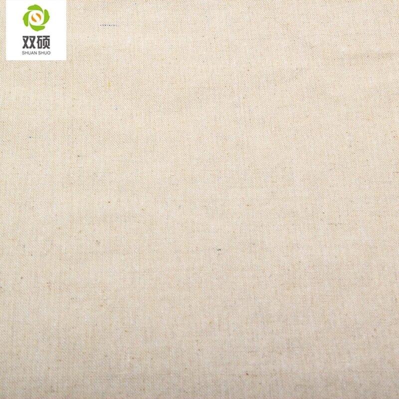Couleur Lin naturel Tissu Qualités lin Tissu Pour Rideaux, canapé ...